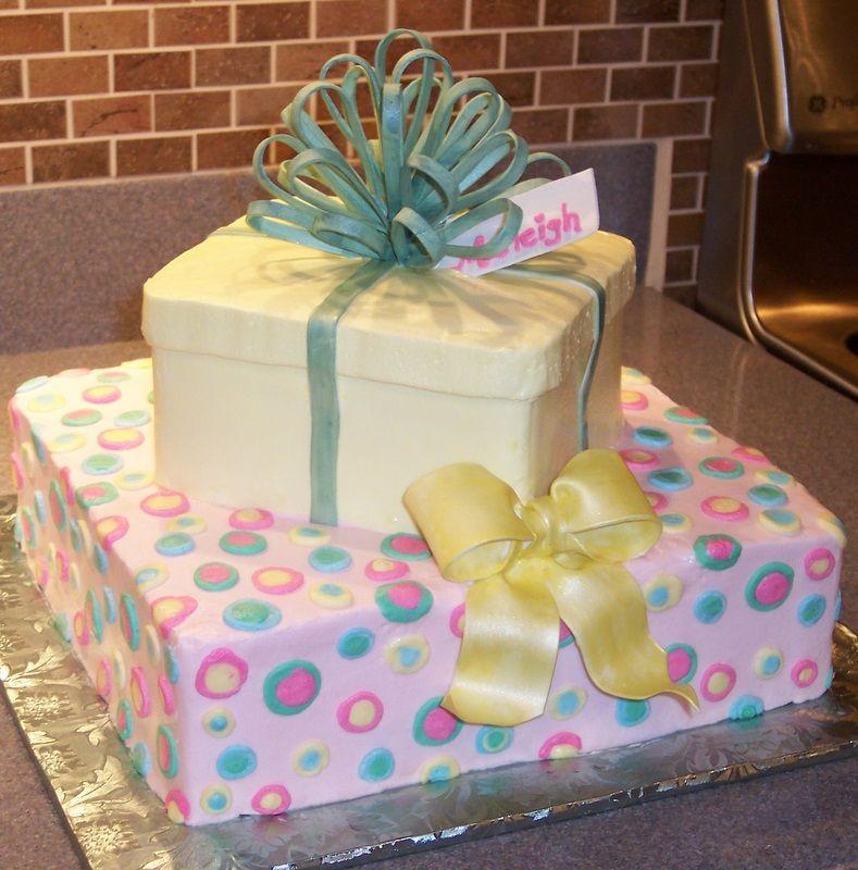 Baby Shower Present Cake Buttercream