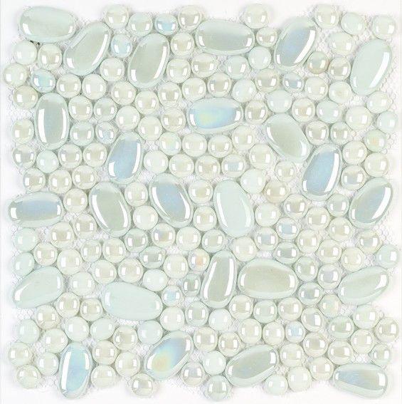 #Aparici #Mosaico #Ozono Oval White 30,5x30,5 Cm | Feinsteinzeug