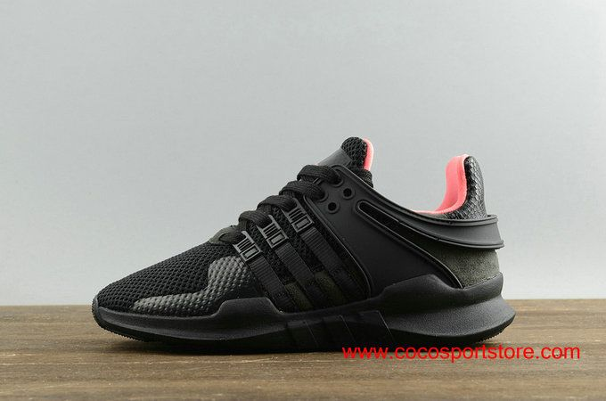 more photos 9b00a 9b5d3 adidas EQT Support ADV All Black Outside Pink Inside BB1300 Mens Shoes