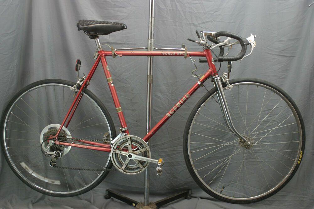 Sponsored Ebay Schwinn World Sport Vintage Road Bike 70s Lugged Steel L Suntour Touring Charity Road Bike Vintage Bicycle Tires Road Bike