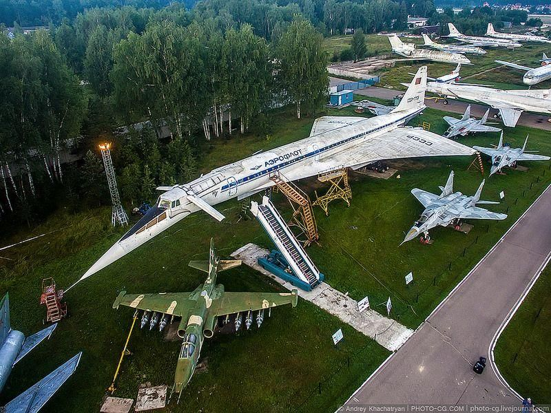 Russia's Central Air Force Museum Stunning BirdsEye