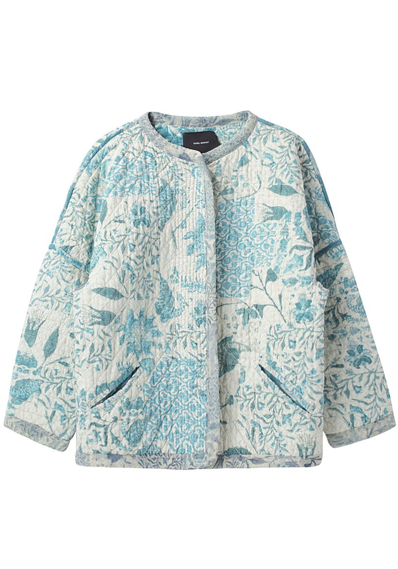 Cotton Women Winter Warm Tree Hand Block Print Coat Blazer Reversible Jacket