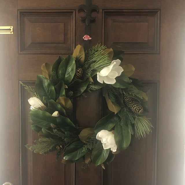 Photo of Lamb's Ear Wreath, Farmhouse Wreath, Greenery Wreath, Year Round Wreath, Front Door Wreath, Wedding Wreath, Spring Decor, Winter Wreath