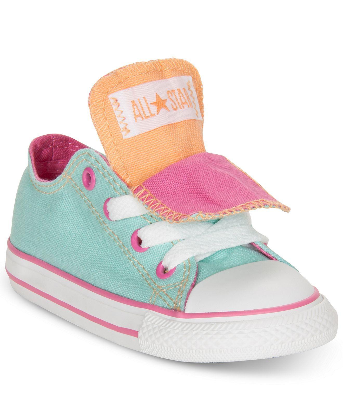 Converse Kids Shoes, Girls Chuck Double Tongue Casual