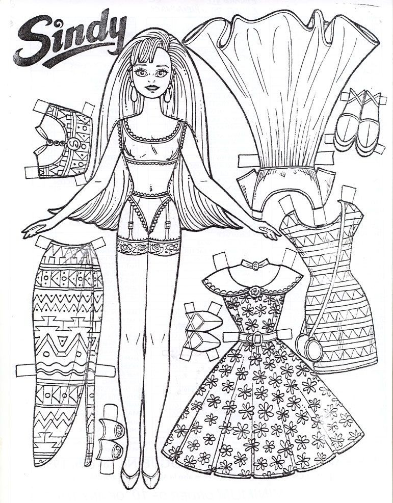 Free Printable Paper Doll Coloring Pages For Kids Paper