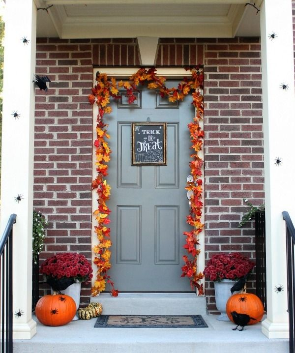 Halloween Entryway Decoration Ideas #herbstdekoeingangsbereich