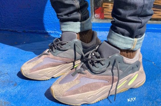 e8b8c75ba29 On-Feet Look At The adidas Yeezy Boost 700 Mauve Many people argue that  Kanye's