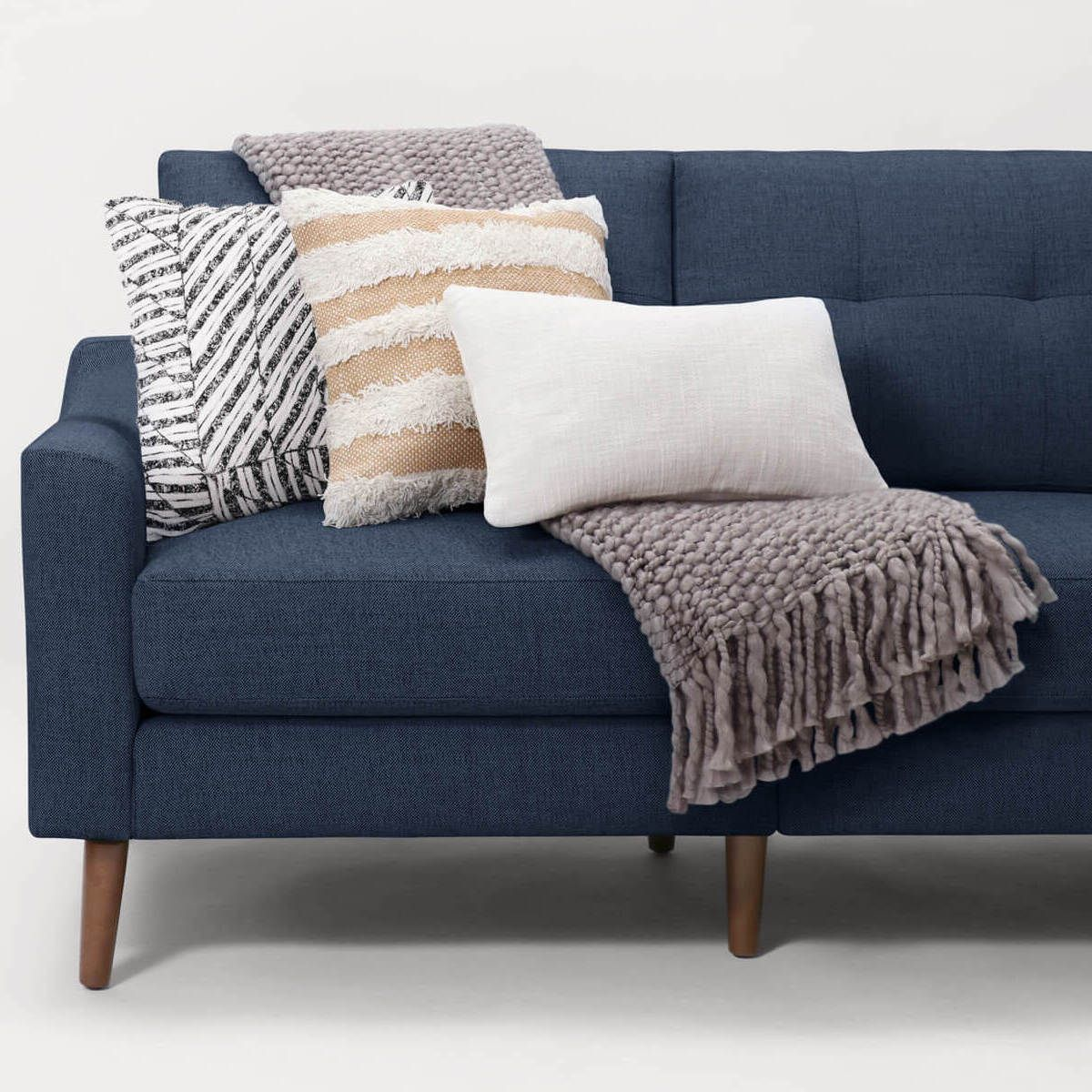 The Luxury Couch For Real Life Burrow Blue Couch Living Room Minimal Living Room Modern Furniture Living Room