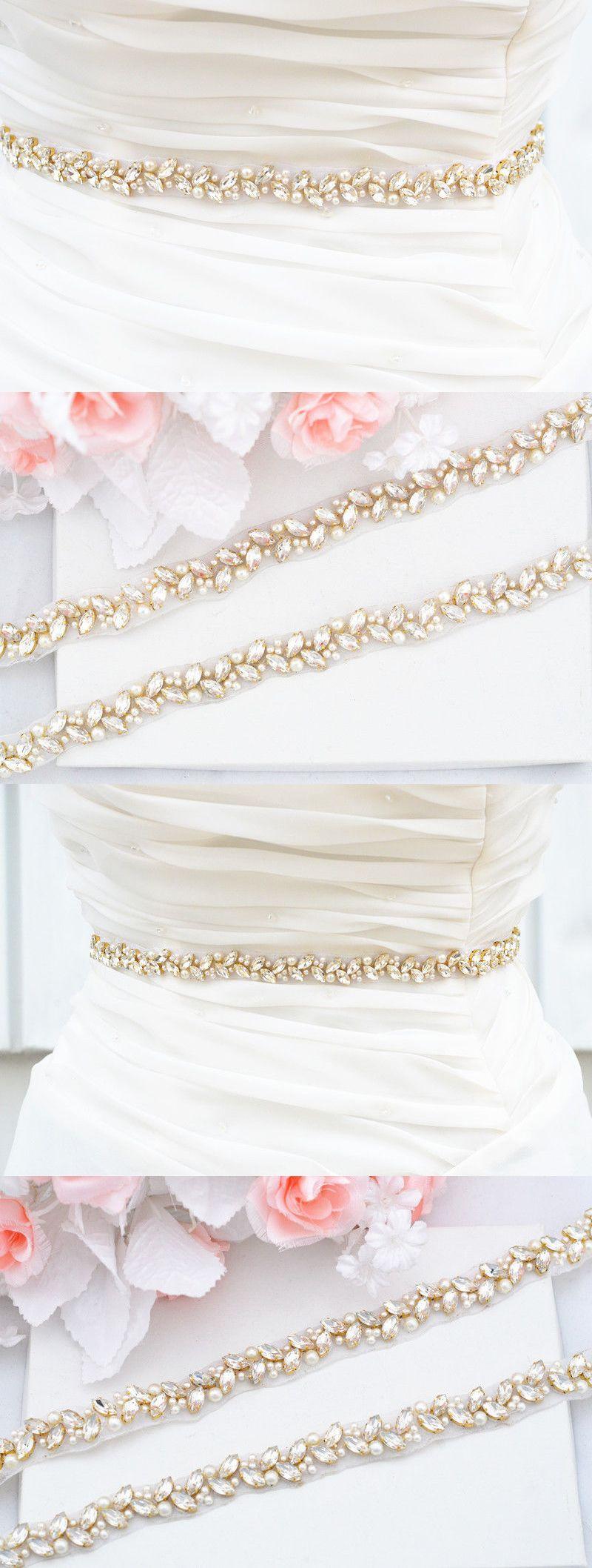 Gold belt for wedding dress  Belts and Sashes  Gold Wedding Belt Bridal Belt Sash Belt