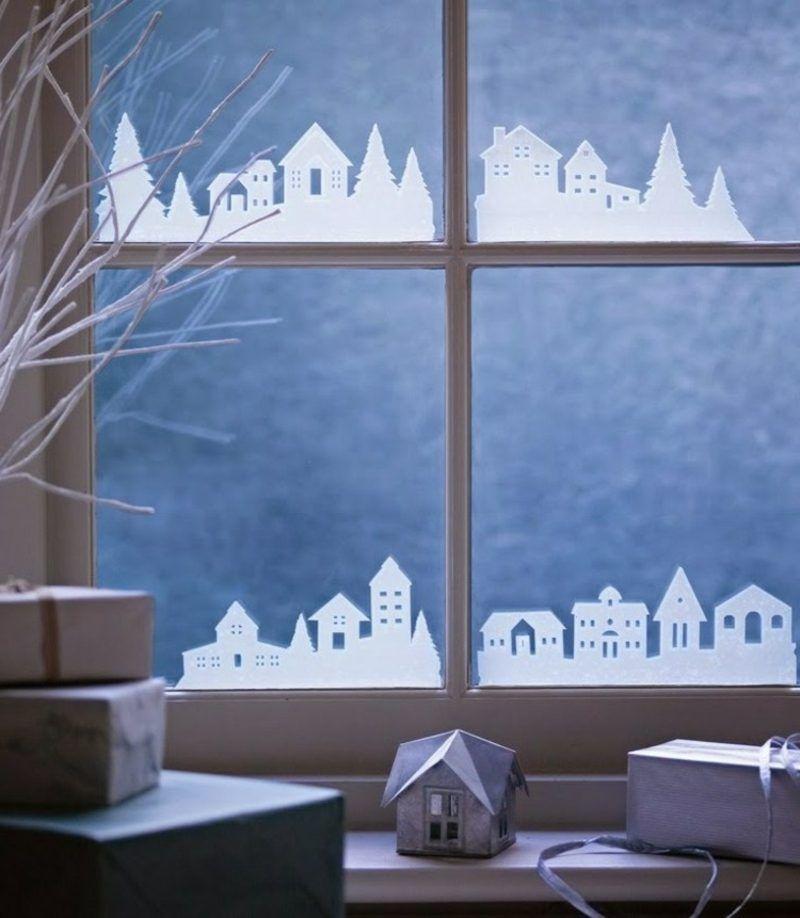 Fensterbilder zu Weihnachten: originelle Bastelideen zum ...
