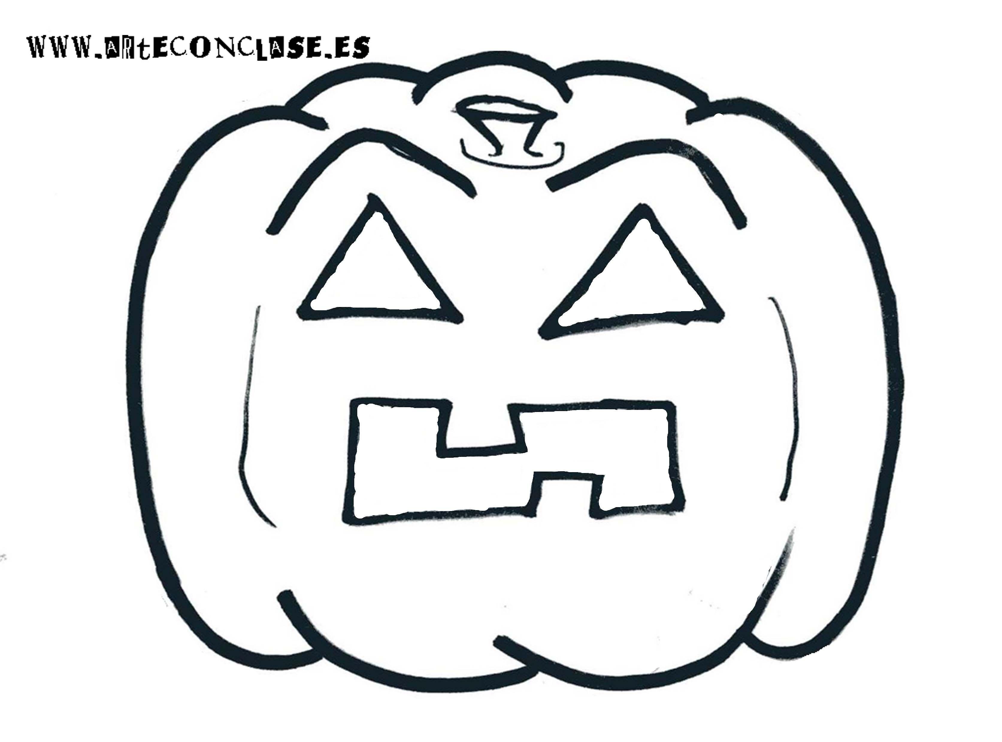 Modelo de #calabaza 4 para #Halloween.