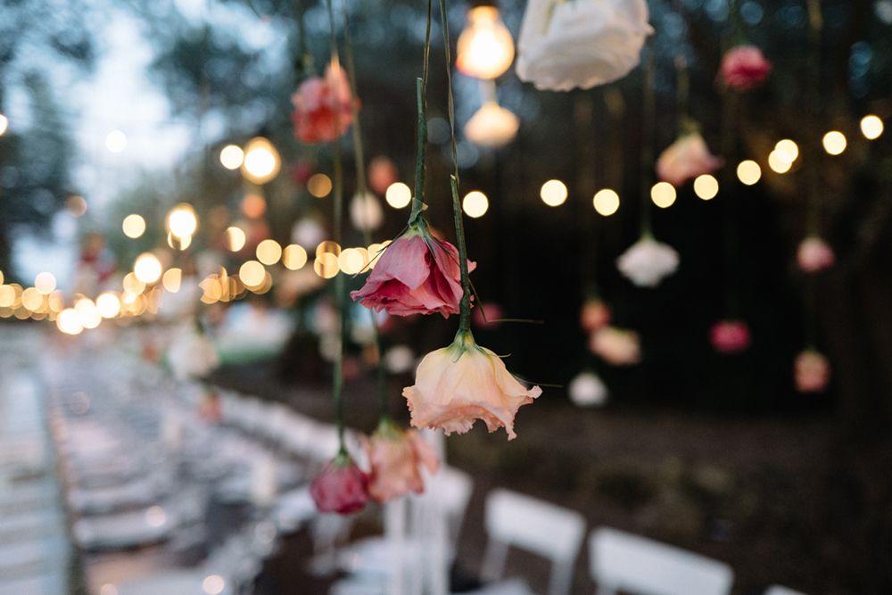 Hanging Flower Stems | Outdoor Italian Wedding | Commenda di San Calogero | Diverso Event Design | Giuseppe Marano | http://www.rockmywedding.co.uk/francesca-marco/