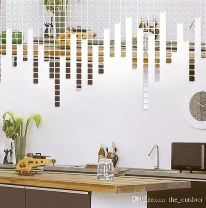 Discount Wall Stickers Home Décor Square Crystal Mirror Wall Decals  Creative Acrylic Mirror Wall Stickers Ws4046 From China | Dhgate.Com
