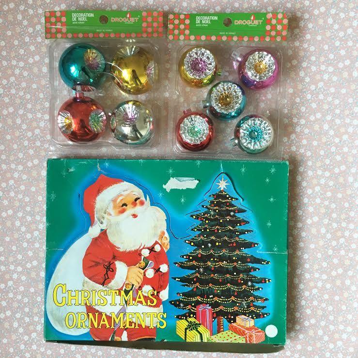 Boule De Noel Vintage Orangevertevintage — Décorations de Noel Vintage Boules de Noel