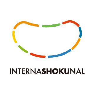インターナショクナルのロゴ:おいしい笑顔を表現するロゴ | ロゴストック