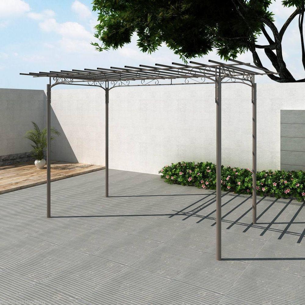Steel Elegance Garden Structure Arch Pergola Frame Gazebo 1 9x3 2m