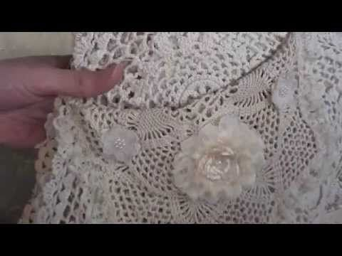 ▶ Vintage Fabric lace Book. - YouTube    I absolutely love this !!