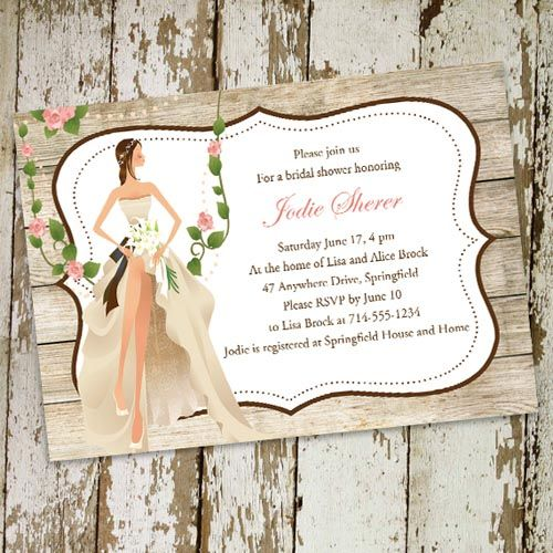 vintage garden country bridal shower invitations online ewbs052 94 ea