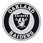 Fanmats Nfl Oakland Raiders Black 2 Ft Round Area Rug