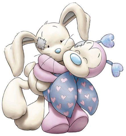abrazo de conejo