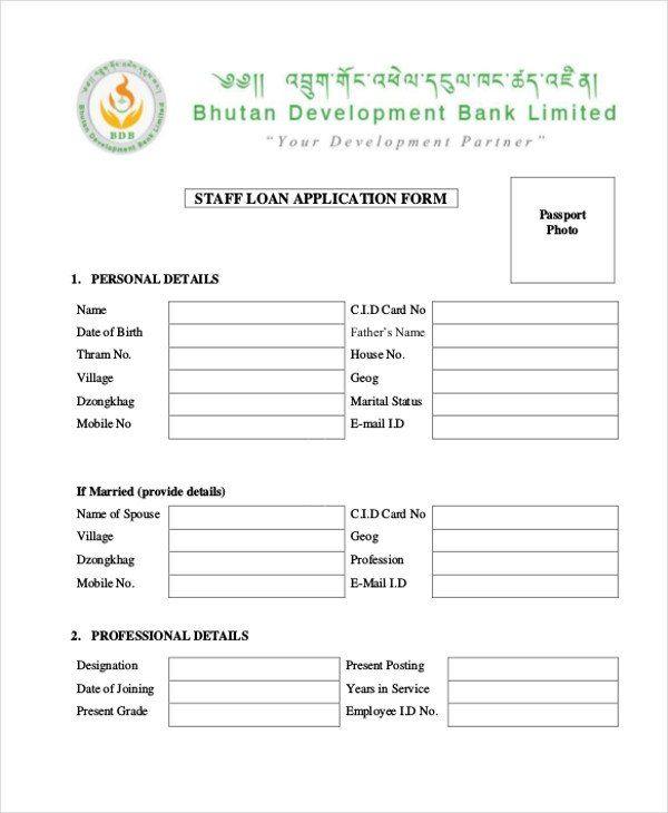 28 Loan Application form Sample in 2020 Loan application