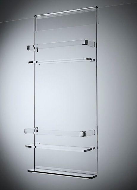 Daya Designs Australia Double Shelf Zero Acrylic Shower Caddy Shower Screen Glass Shower Shower Caddy