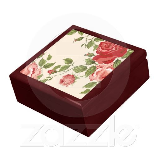 Old-Fashioned Roses Design Gift Box