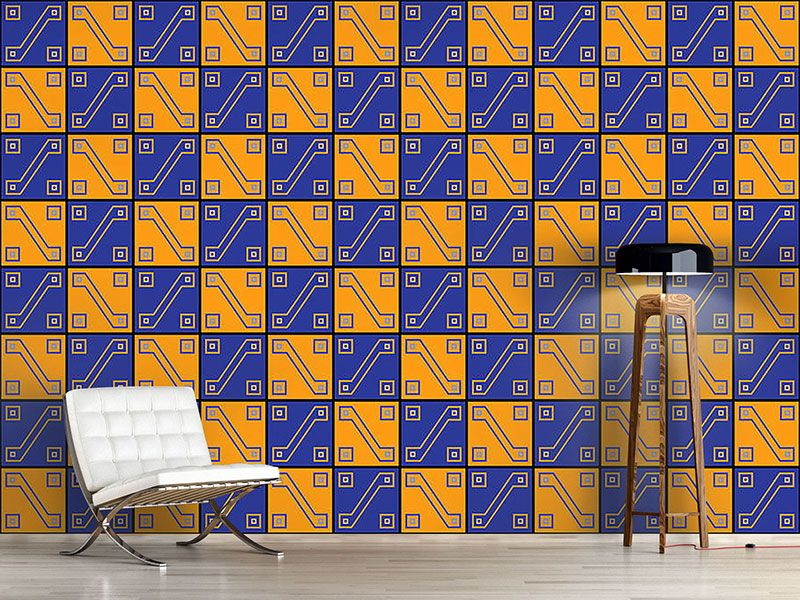 Design Tapete Inka Gold