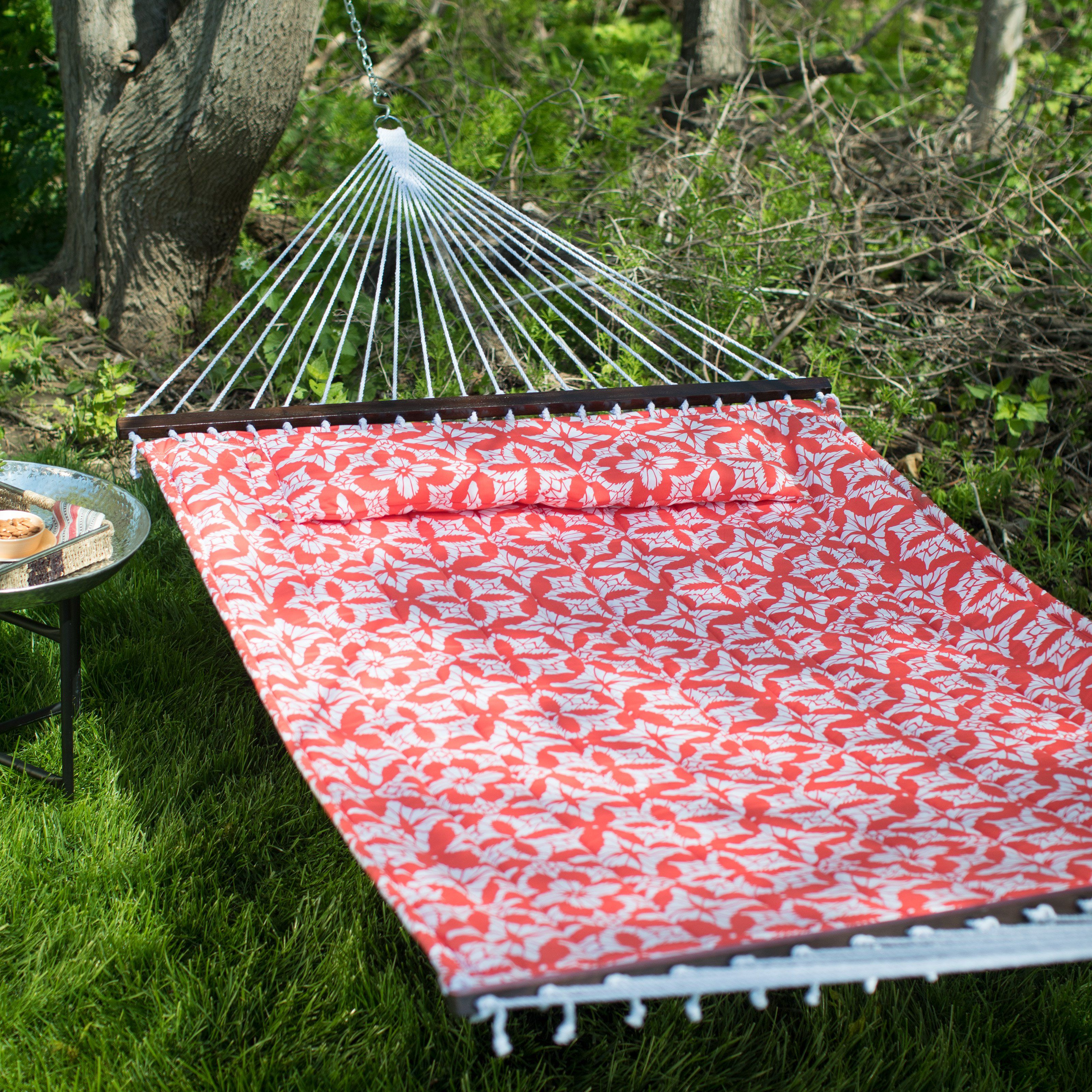 Island bay kula maui ft quilted person hammock coral