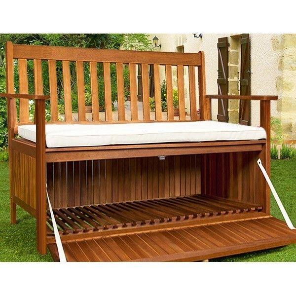 Banco de jardin terraza baul jardines y exterior for Escalera de madera al aire libre precio