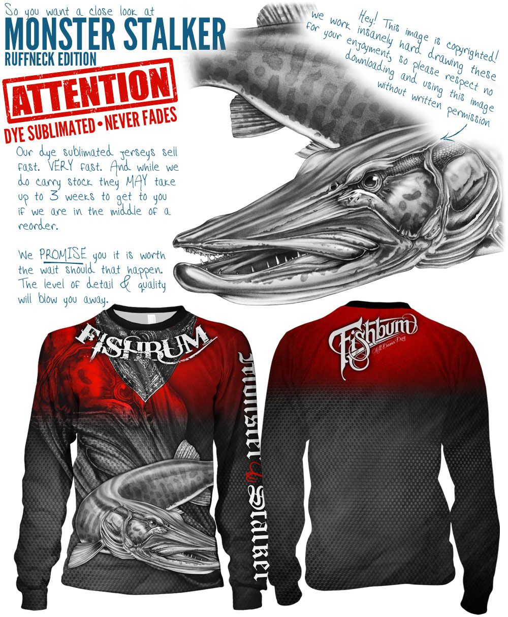 eed093f7 FISHBUM Fishing Clothing Presents – Monster Stalker Ruffneck Edition  Fishing Jersey