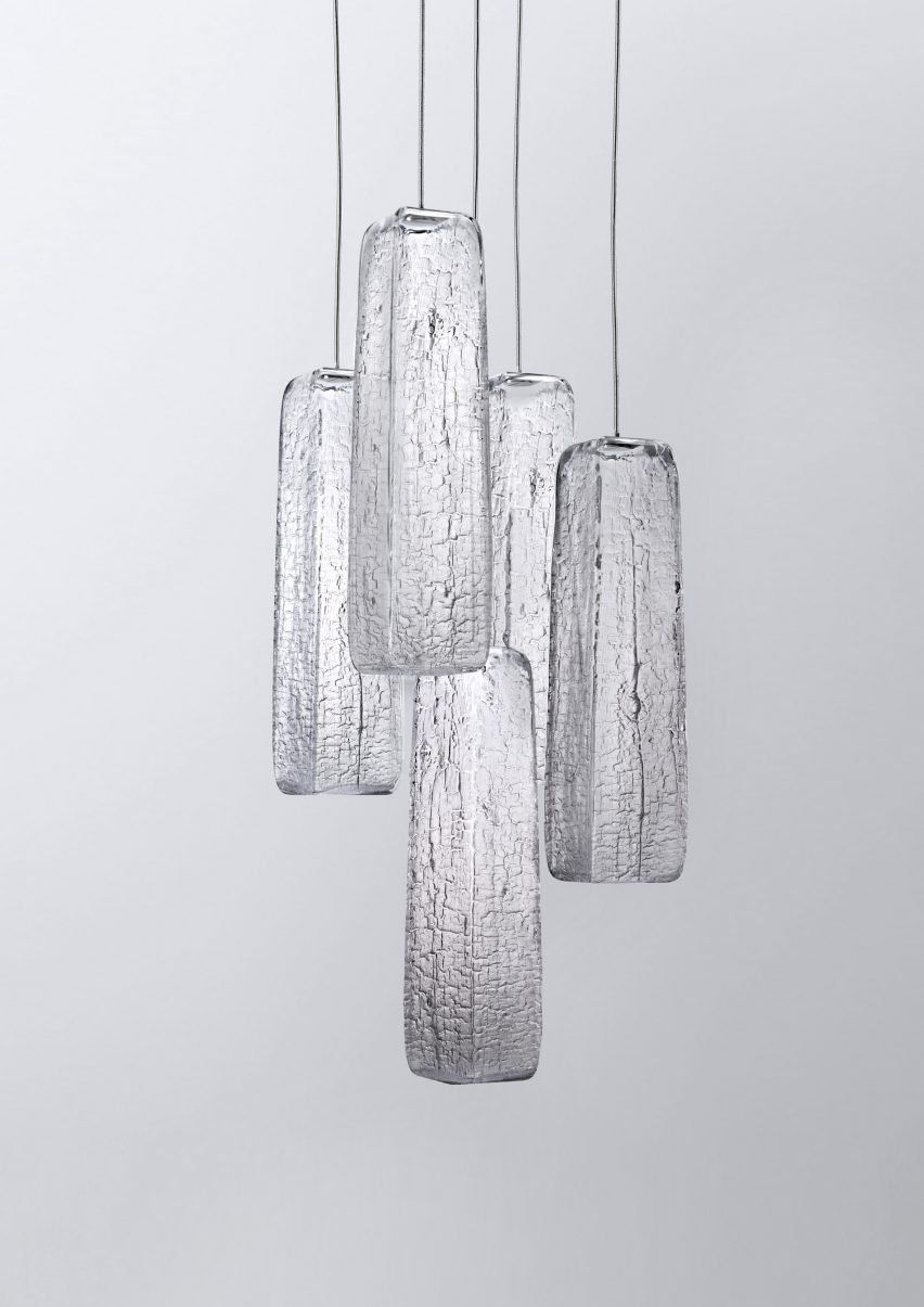 used pendant lighting. Yakisugi Pendant Lights By Kengo Kuma For Lasvit. Each One Made From A Burnt Mould That Cannot Be Re-used. Used Lighting N