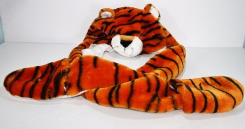 Cartoon-Animal-Plush-Warm-Cap-Tiger-Hat-Earmuff-Scarf-Gloves-Mitten-fluff
