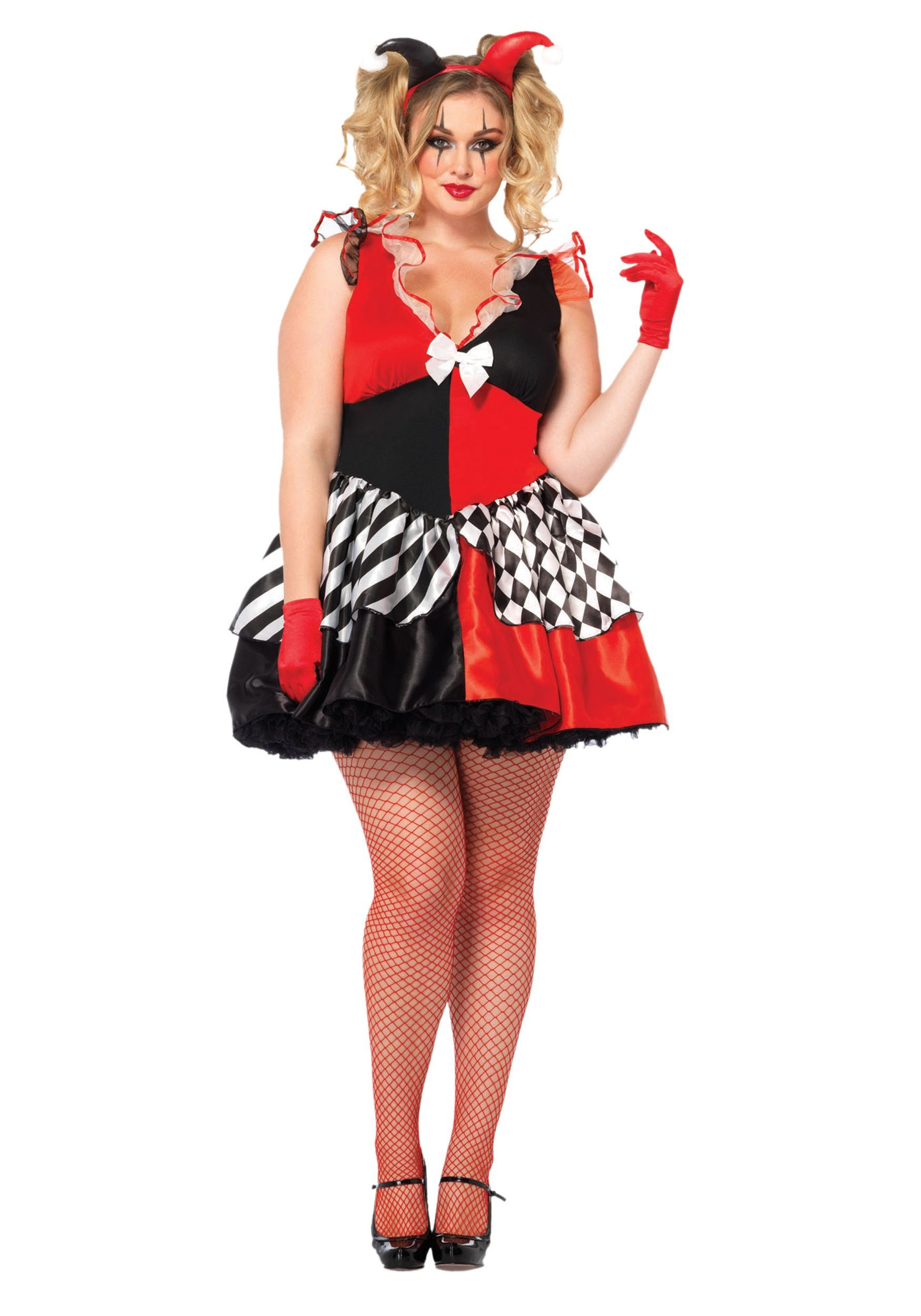 women's plus size court jester costume | ☠ halloween costumes