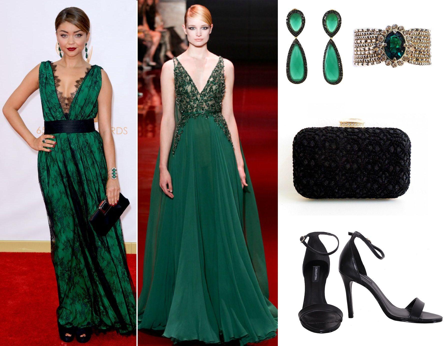 Vestidos na cor verde esmeralda