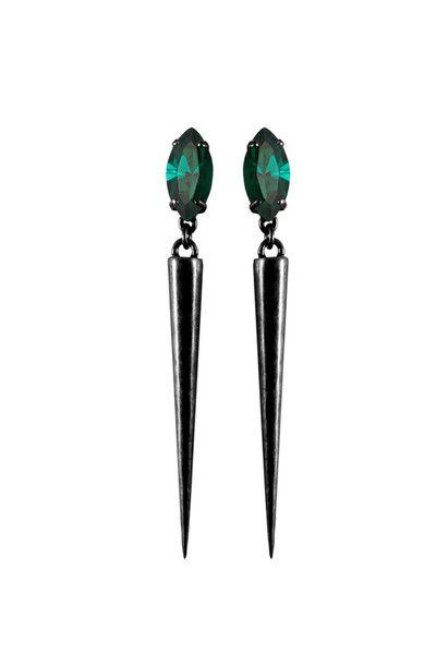 Divine Spike Earrings - Gunmetal   TOMTOM
