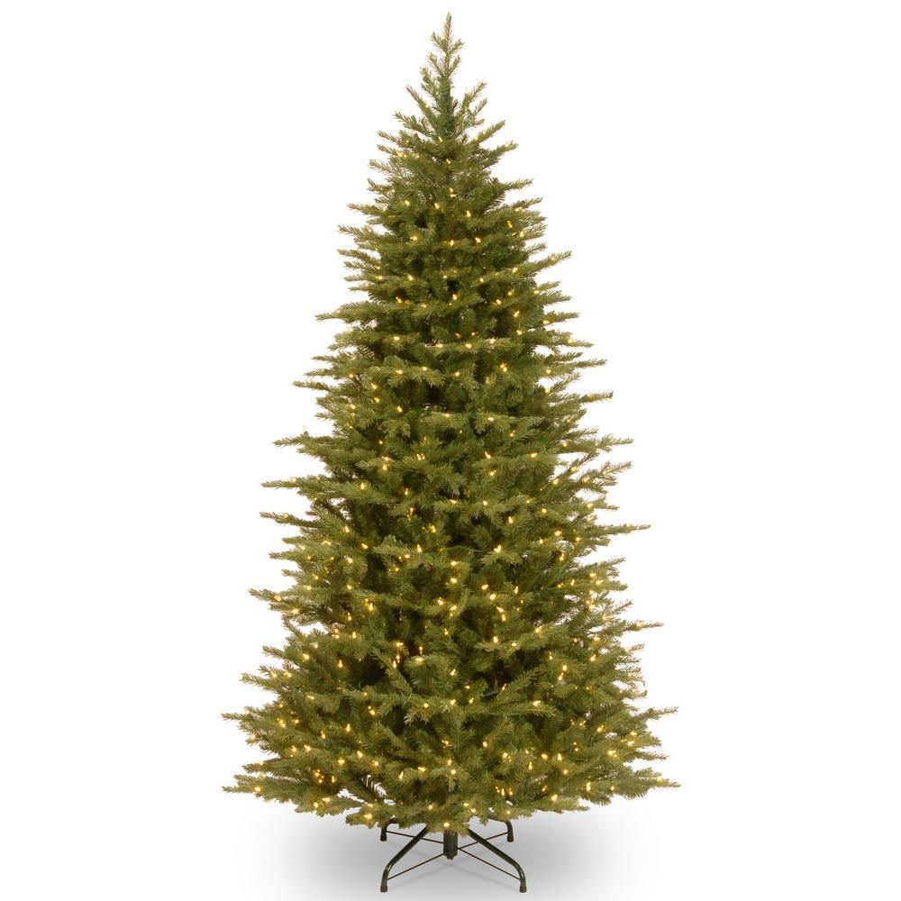 Home Depot Real Christmas Tree Prices: National Tree Company 6-1/2 Ft. Feel Real Nordic Spruce