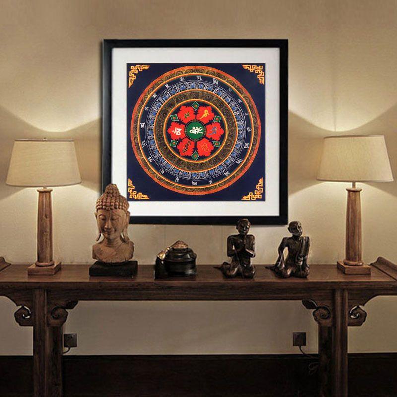 Tibet thangka art painting printed home decor tibetan mandala faith ...
