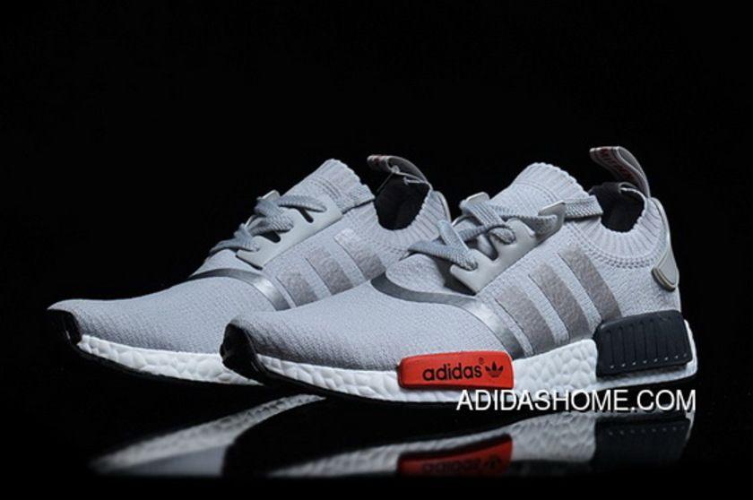 the latest b5603 714c9 Women Men Adidas S NMD Runner Primeknit Sneakers Grey New Year Deals