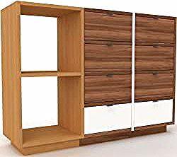 Sideboard oak – designer sideboard: drawers in walnut …
