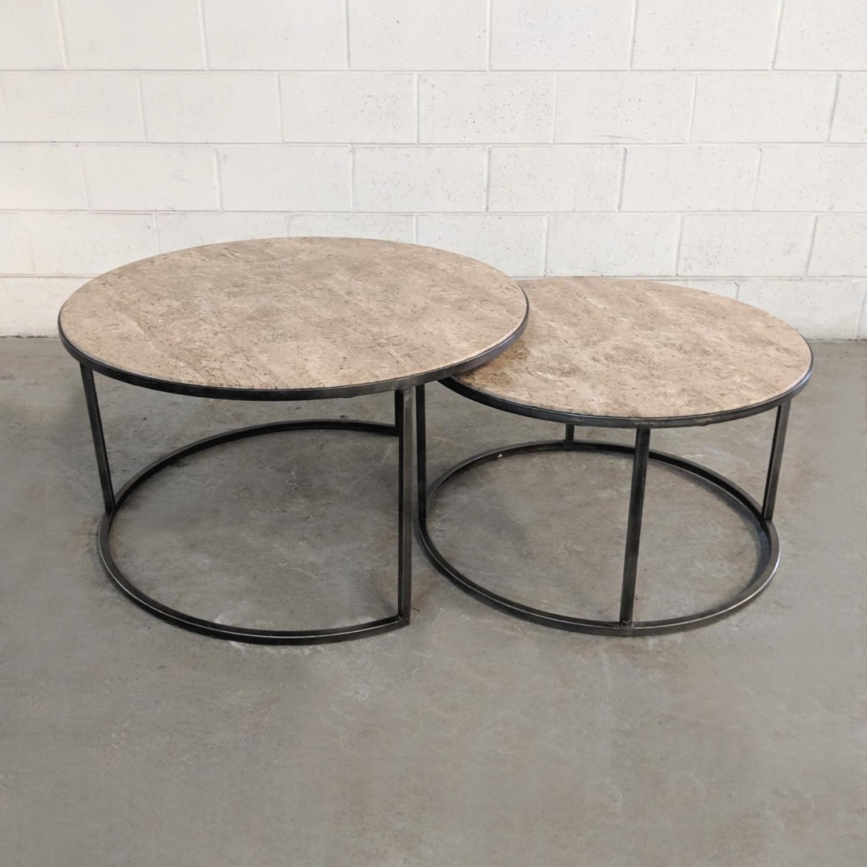 1990s Modern Travertine Stone Nesting Coffee Tables 2 Pieces For Sale Image 4 Of 9 Nesting Coffee Tables Coffee Table Table [ 1500 x 1500 Pixel ]