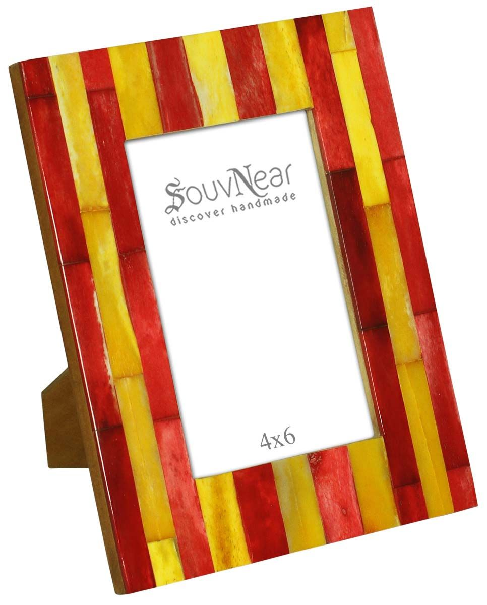 Red & Yellow 4x6 Inches Picture Frame in Bulk - Wholesale Handmade ...