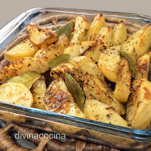 recetas de Patatas con especias al Horno