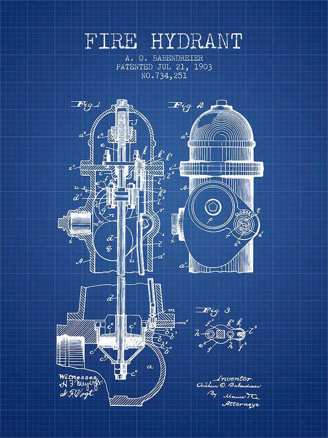 1903 fire hydrant patent blueprint photograph patents wall art 1903 fire hydrant patent blueprint photograph malvernweather Images