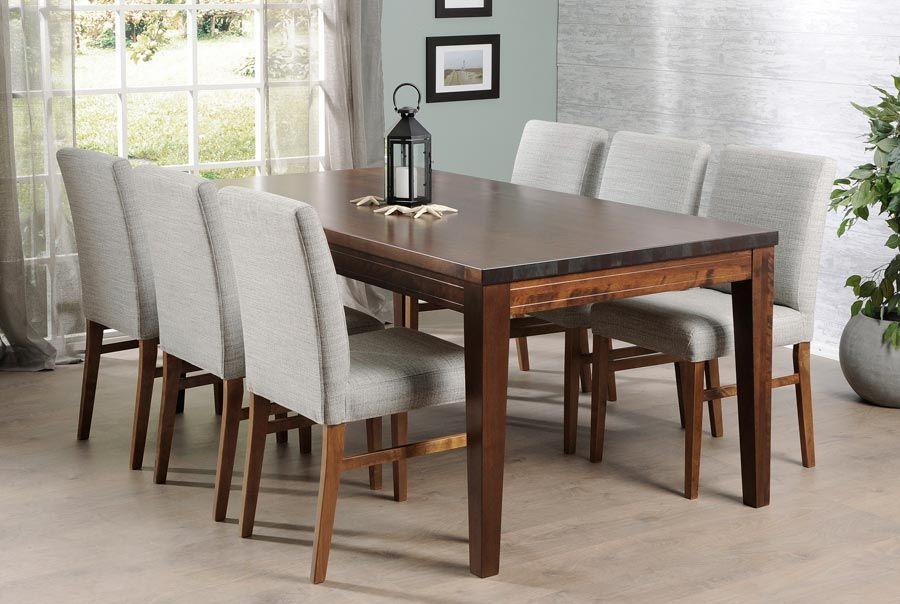 MODULI-pöytä 180 x 90 cm ja 6 kpl verhoiltu LUNA-tuoli - Moduli-ruokapöydät nyt -20%   Sotka.fi