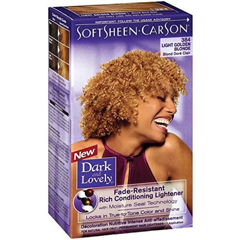 Dark and Lovely Color 384 Light Golden Blonde, 3 Pack