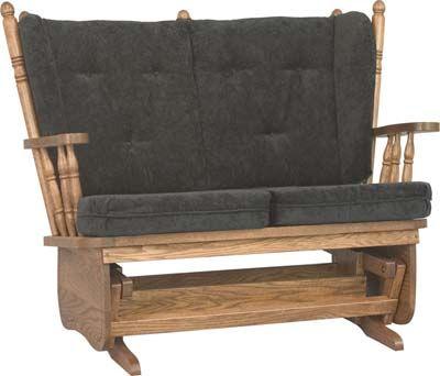 4 Post Low Back Loveseat Glider Diy Living Room Furniture Amish
