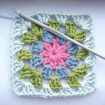 summer garden granny square crochet pattern | Afghan crochet ...