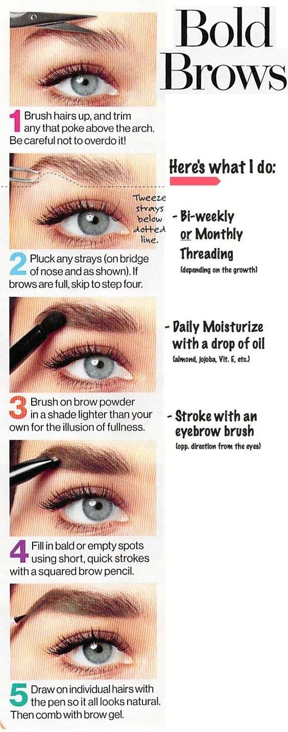 How To Grow Eyebrows Fast Naturally Overnight Grow Back Thicker