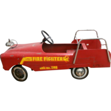 Vintage AMF Firefighter Unit  No.508 Pedal  Car Working Condition
